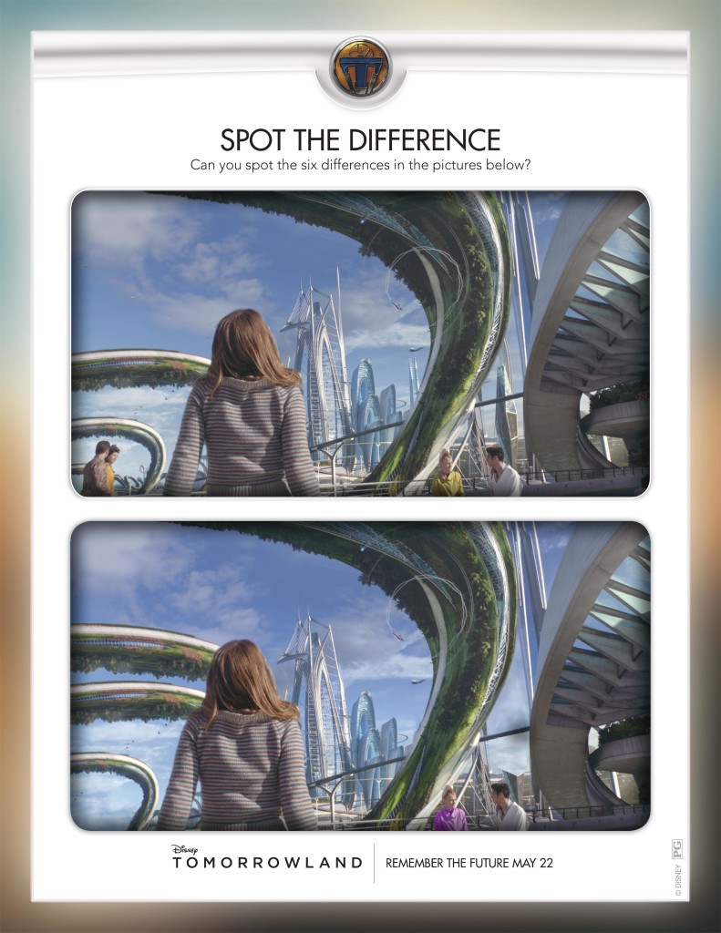 Tomorrowland Spot The Difference Activity Page