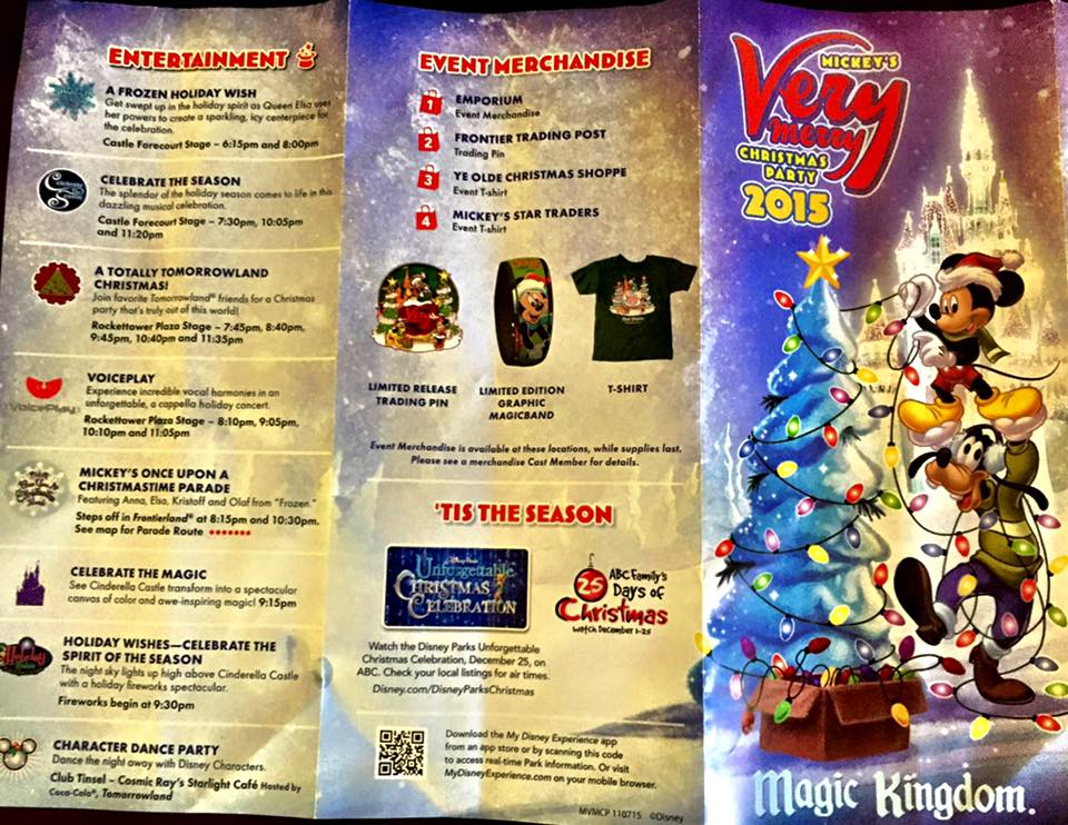 mickeys very merry christmas party map front