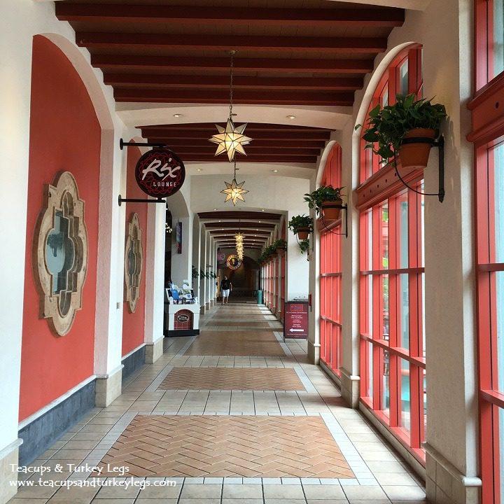 Hallway from Registration to Pepper Market, Disney Coronado Springs Resort