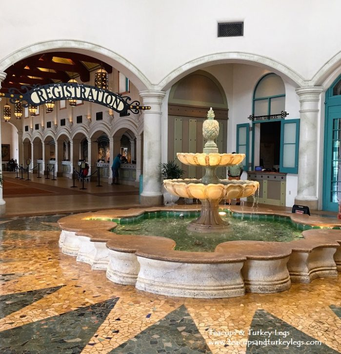 Water Fountain and Registration area at Disney's Coronado Springs Resort