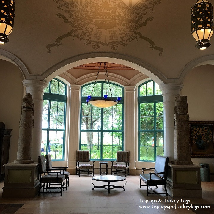 Seating area in Registration at Disney's Coronado Springs Resort