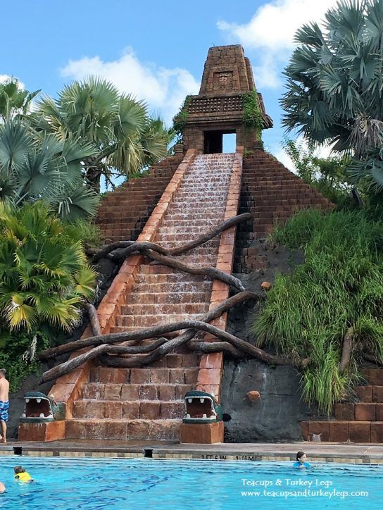 Replica of Mayan Pyramid at Lost City of Cibola Pool, Disney's Coronado Springs Resort