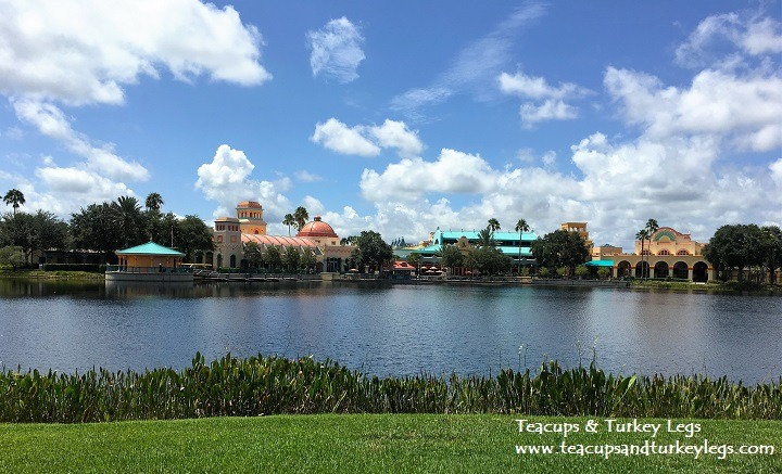 View of Main Building, Restaurants and Convention Center from Dig Site Pool, Disney's Coronado Springs Resort