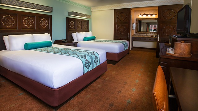 Resort Room at Disney's Coronado Springs Resort. Picture from www.disneyworld.com