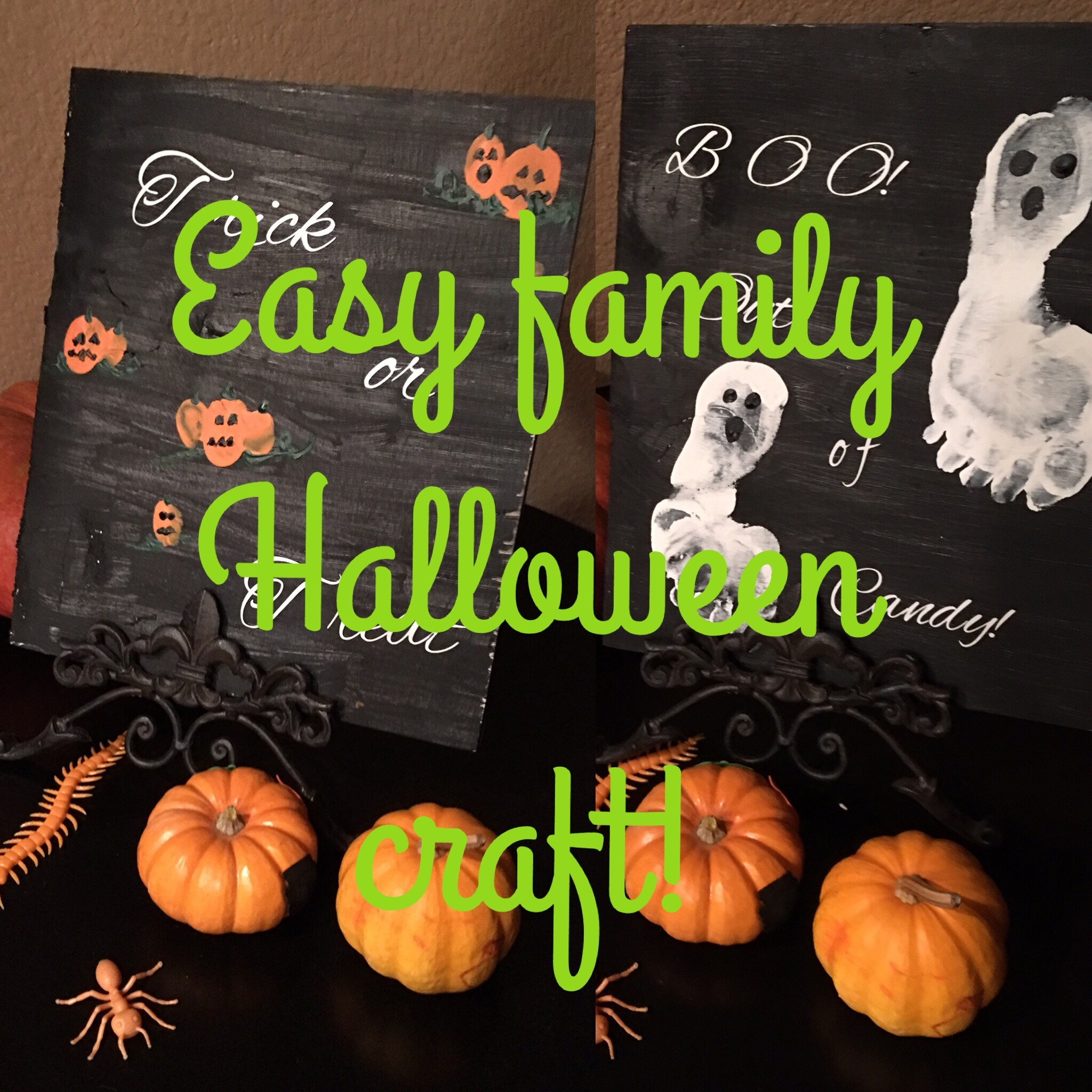 Easy Family Halloween Craft, the kids are going to love!
