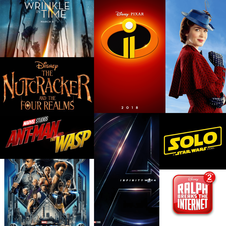 2018 Disney Marvel Movies-