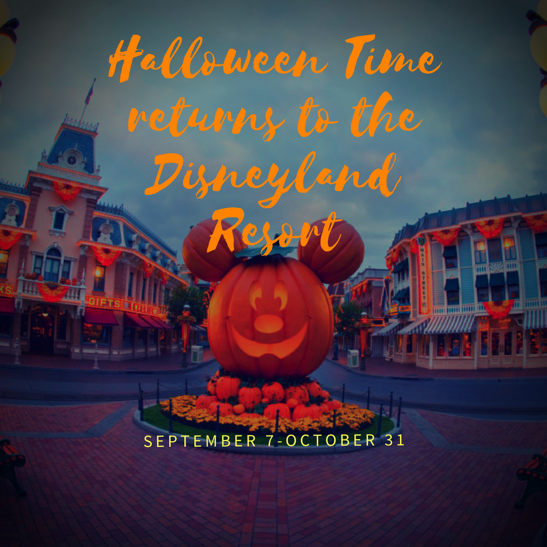 Halloween TIme returns to the Disneyland Resort